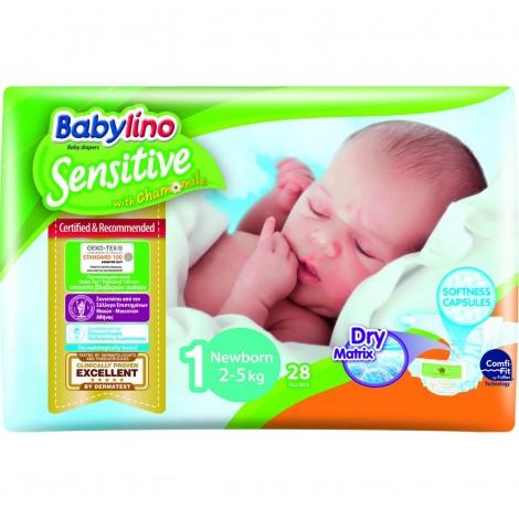 Imagine 1Scutece Babylino Sensitive N1 2-5kg/28 buc