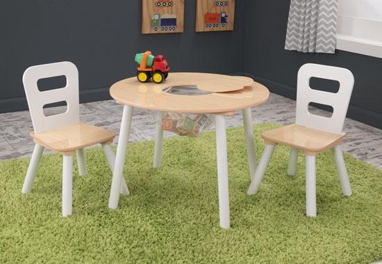 set_masuta_2_scaune_copii_round_table_and_2_chair_set_kidkraft_natural