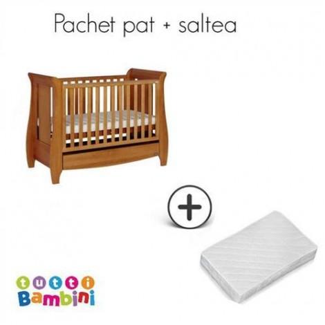 Imagine 3Set patut + salteluta pentru bebelusi Lucas Oak