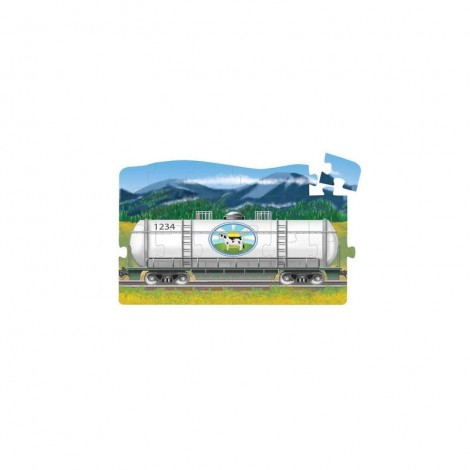 Imagine 3Set puzzle podea conectabile Trenuri