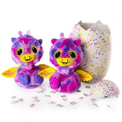 Imagine 1Ou surpriza Hatchimals - Gemenii roz/galbeni