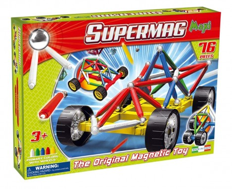 Imagine 1Set constructie Maxi Wheels, 76 piese