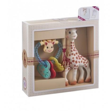 Imagine 1Set SOPHIEsticat Girafa Sophie + Zornaitoare Inimioare