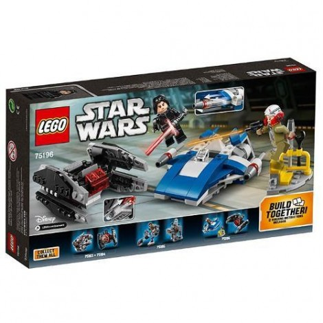 Imagine 3LEGO Star Wars A-Wing contra TIE Silencer Microfighters