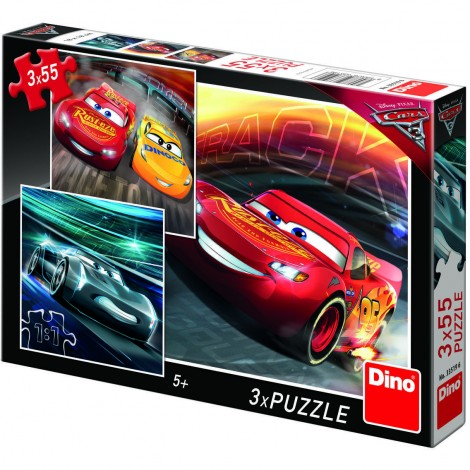 Imagine 1Puzzle 3 in 1 - Cars (3 x 55 piese)