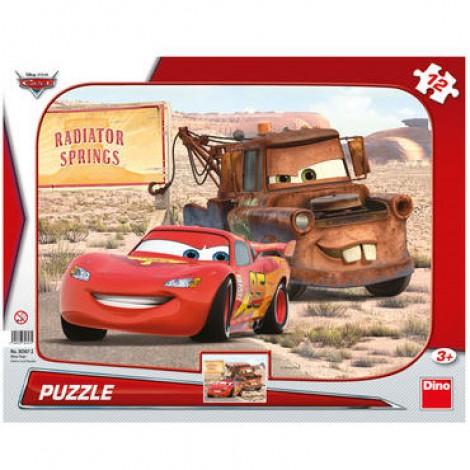 Imagine 1Puzzle - Peripetii cu Lightning McQueen  (12 piese)
