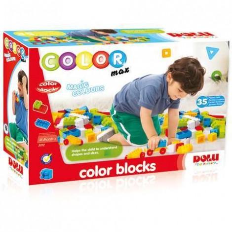 Imagine 1Cuburi colorate de construit - 35 piese