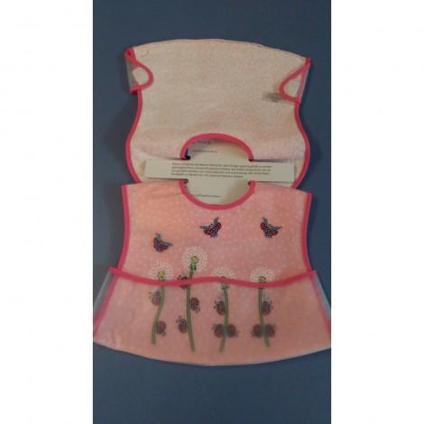 Imagine 3Baveta plastic moale 2/set 35x32 cm Gargarita Roz