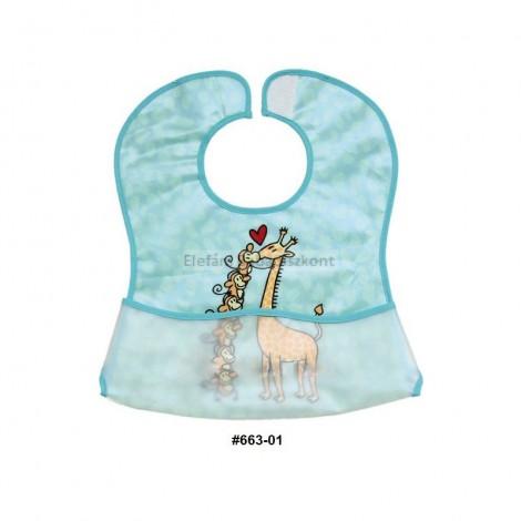 Imagine 1Baveta plastic moale 2/set 35x32 cm Girafa Albastra