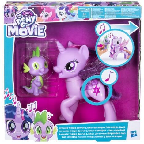 Imagine 1Set My Little Pony Princess Twilight Sparkle si Dragonul Spike