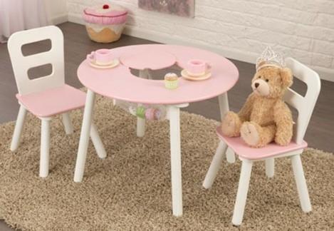 Imagine 2Set masuta si 2 scaune Pink & White